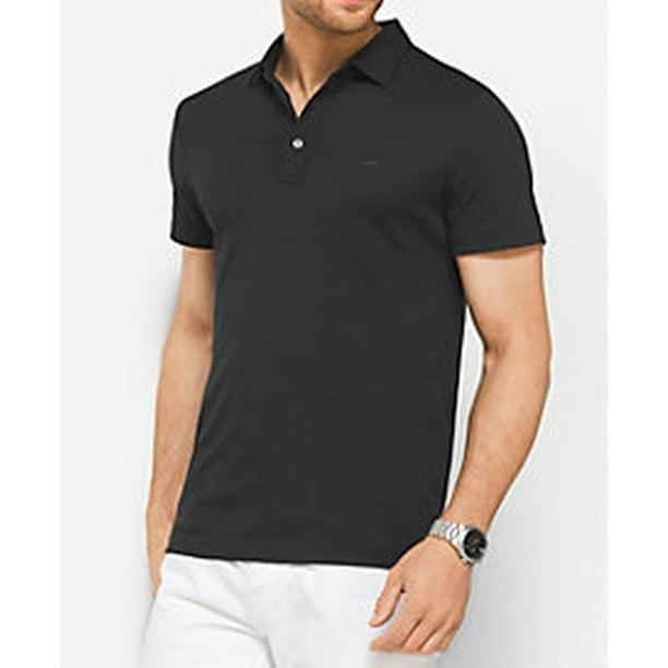 Michael Kors NEW Black Mens Size Large L Classic Fit Polo Shirt