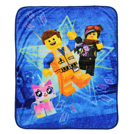The LEGO Movie 2 Kids Silky Soft Throw, 40 x 50, Everyday Heroes, 1 Each