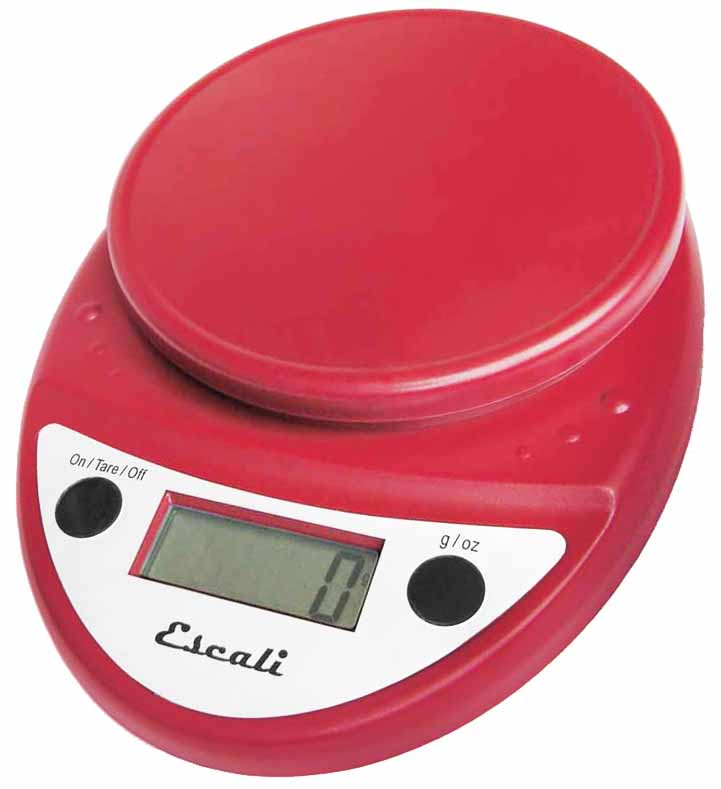 Escali - Primo Digital Food Scale P115WR Warm Red
