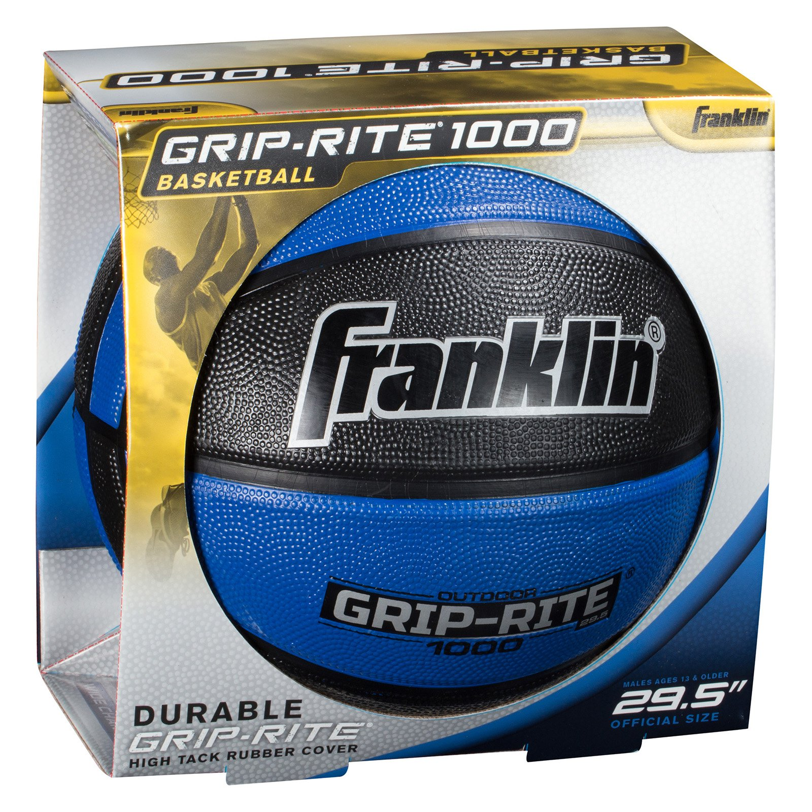 Franklin Sports Official-Size Grip-Rite Rubber Basketball