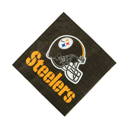 Steelers Party Supplies (Nfl Pittsburgh Steelers Lunch Napkins for Party - Party Supplies - Licensed Tableware - Licensed Napkins - Party - 16)