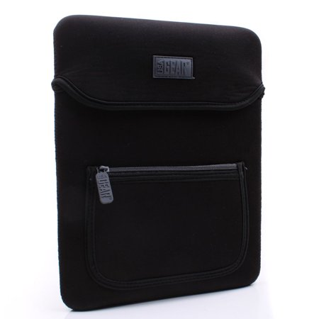 Protective Neoprene Tablet Case Cover with Carrying Handle Strap , Zippered Accessory Pocket & Scratch-Free Interior Lining by USA GEAR - Works with the Ematic FunTab Pro and more Tablets! (Xo Tablet Case)