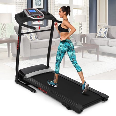 ANCHEER 2.5HP 12 Sports Modes Folding Treadmill Fitness Folding Electric Treadmill Exercise Equipment Walking Running Machine Gym Home