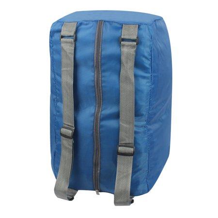 Folding Shop Bag - Unique Bargains Blue Water Resistant Folding Camping Bag Shoulder Cross Storage Handbag Backpack