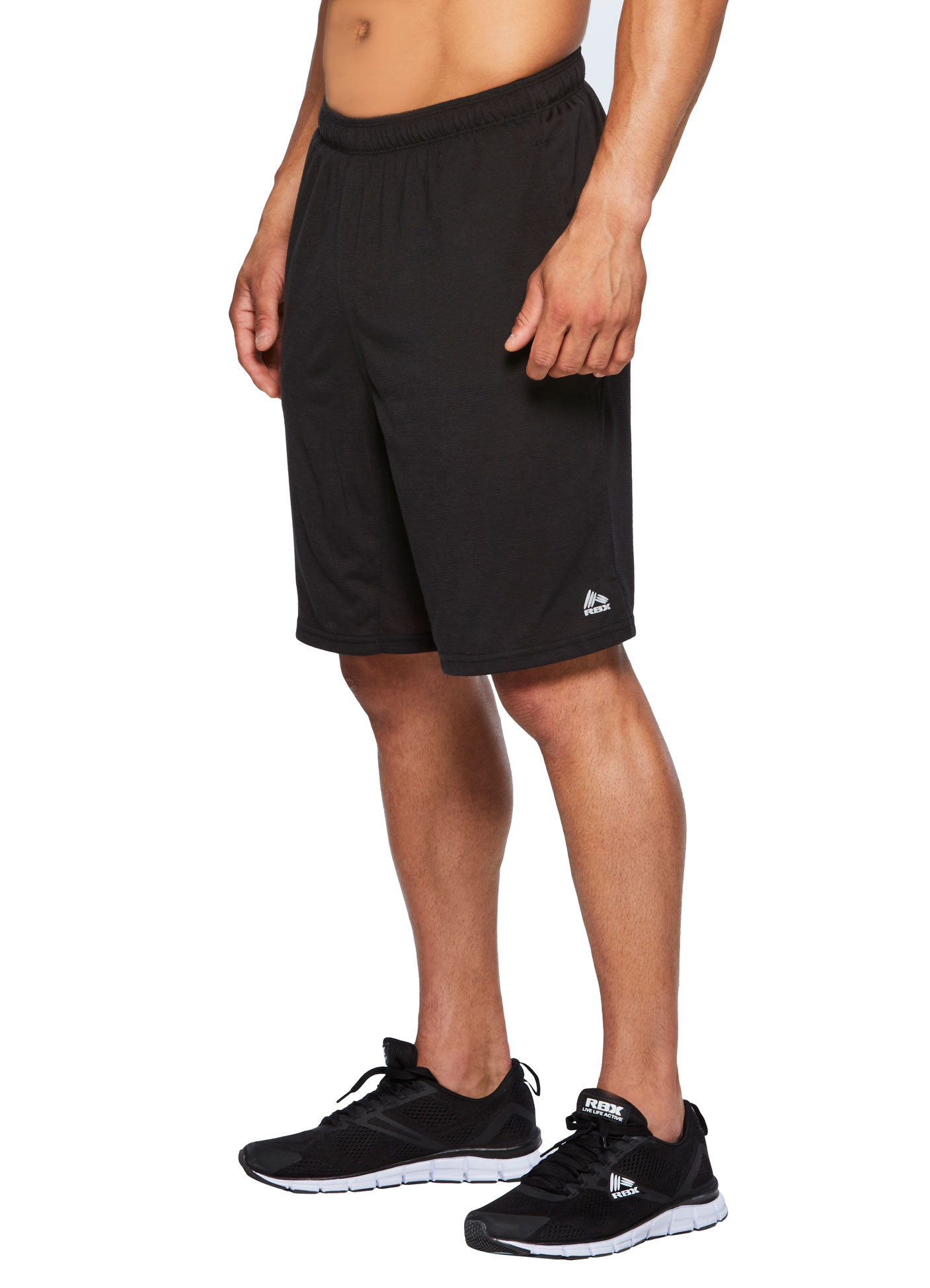 RBX Active Men's Ultra Soft Striped Athletic Workout Running Shorts