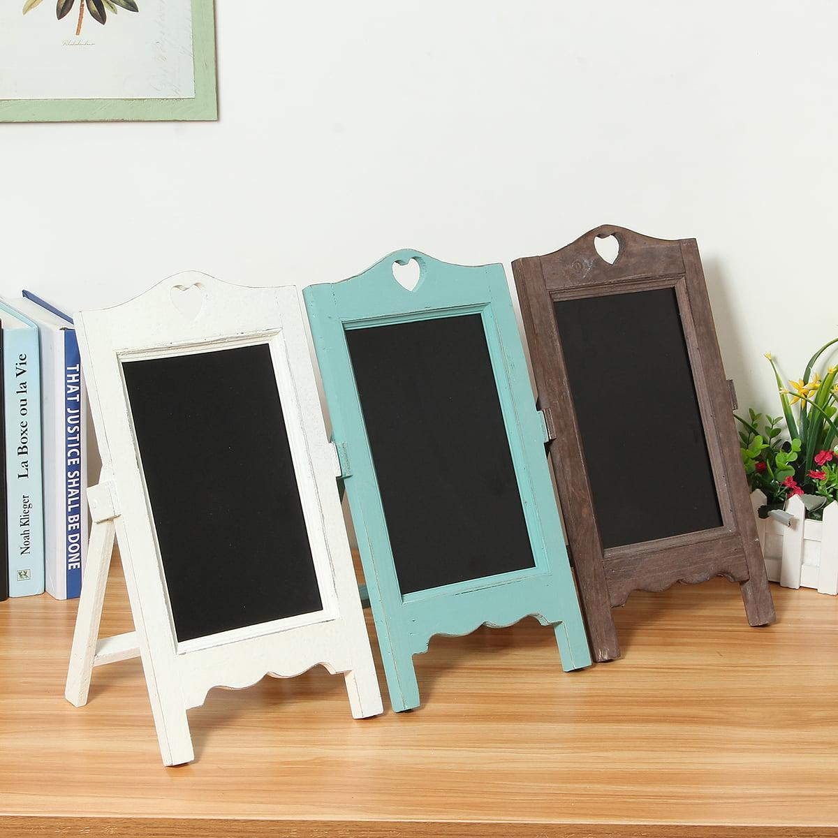 "4.9 x 7.7 x 13.8"" Vintage Chalk Board Blackboard Memo Message Board Wedding Kitchen Notes Signs"