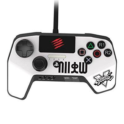 Mad Catz PS4CONSFW PS4 Street Fighter Game Pad Controller - White
