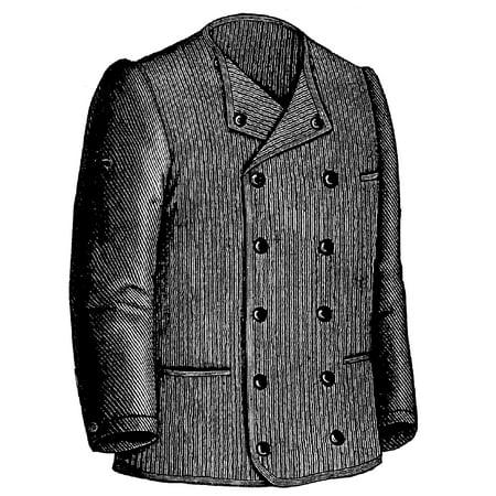 Sewing Pattern: 1886 Gentleman's Jersey Pattern Brown Jersey Clute Pattern