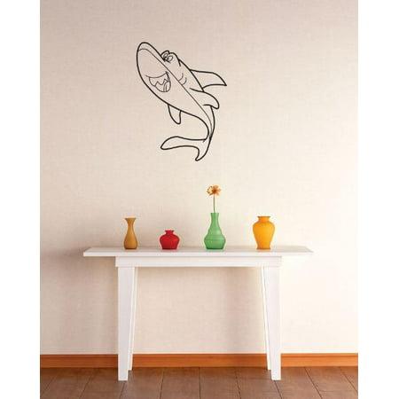 Vinyl wall decal sticker shark image bedroom bathroom for Living room 18 x 12