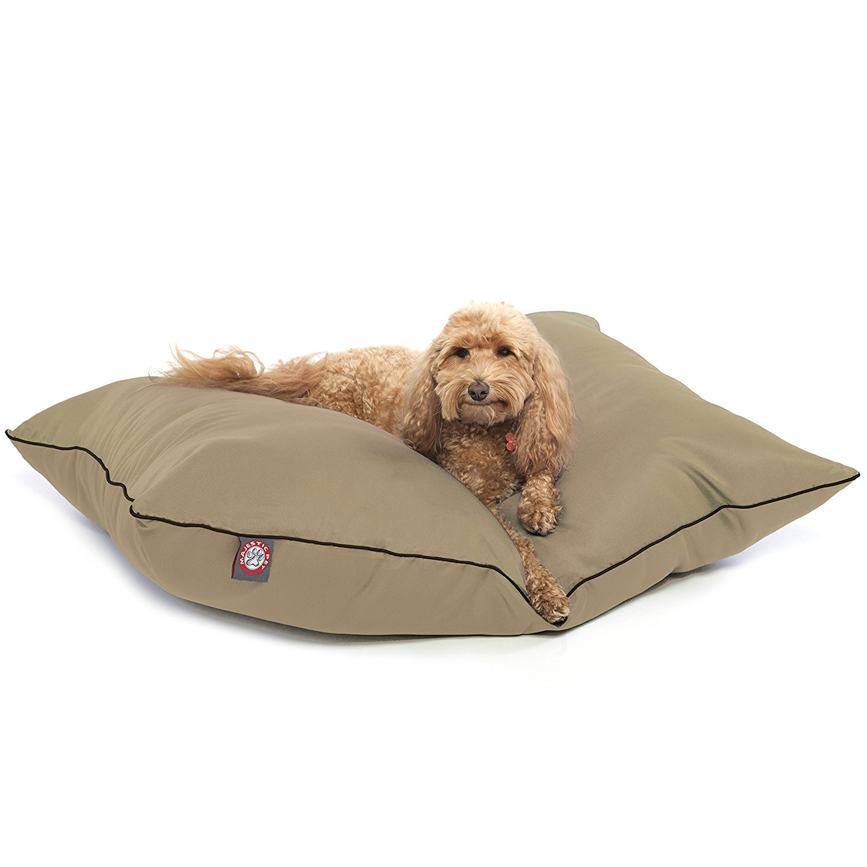 Majestic Pet Super Value Machine Washable Pet Dog Bed, Large, Khaki