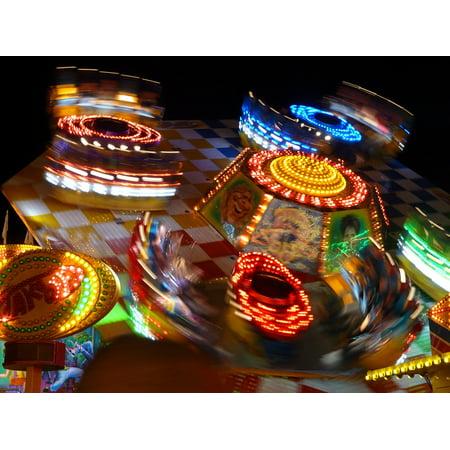 LAMINATED POSTER Lighting Ride Fair Fun Theme Park Year Market Poster Print 24 x (Best Theme Park Ride Photos)