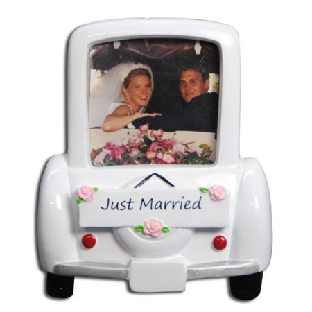 Wedding Car Frame Anniverary Couple Photo Personalized Christmas Ornament DO-IT-YOURSELF (Couple Photo)