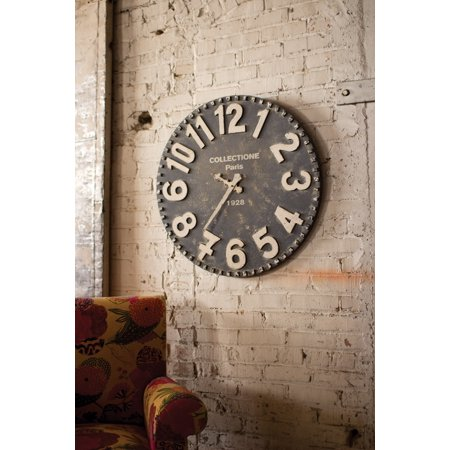 28 Quot Large Distressed Black Wall Clock Art With Vintage