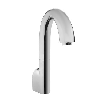 TOTO® Gooseneck Wall-Mount ECOPOWER® 0.35 GPM Electronic Touchless Sensor Bathroom Faucet Spout, Polished Chrome - TELS163#CP