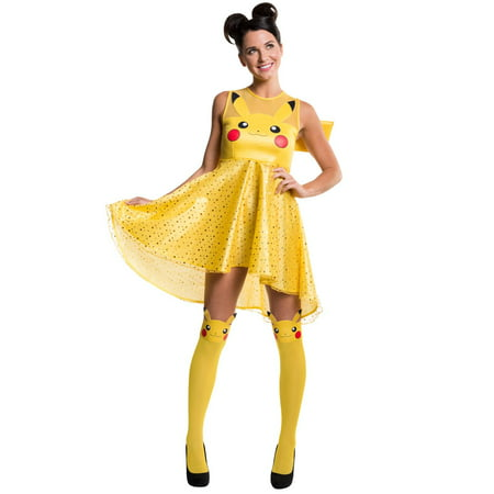Pikachu In A Dress (Pokemon Pikachu Adult Costume Dress)
