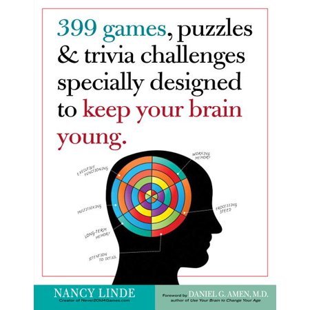 399 Games, Puzzles & Trivia Challenges Specially Designed to Keep Your Brain Young. - Paperback ()