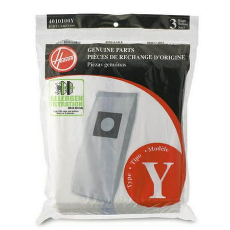 4010100y Windtunnel Allergen Filtration Bag (Hoover Windtunnel Upright Type Y Allergen Filtration Bags 3 Pack - 4010100Y, 43655109 )