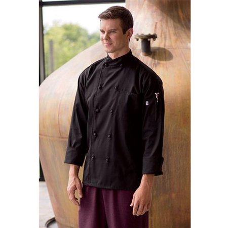 0435-0104 Soho Chef Coat in Black - Large (Chef Revival Black Jacket)