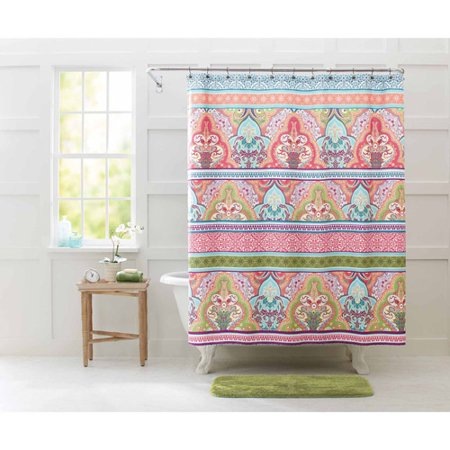 Better Homes and Gardens Jeweled Damask 70  x 72  Polyester Shower Curtain. Better Homes and Gardens Jeweled Damask 70  x 72  Polyester Shower