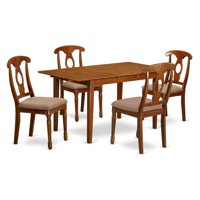 East West Furniture Picasso 5 Piece Keyhole Dining Table Set