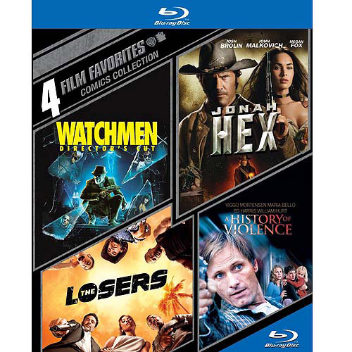4 Film Favorites: Comics Collection - Watchmen / Jonah Hex / The Losers / A History Of Violence (Blu-ray) (Widescreen) WARBR427532