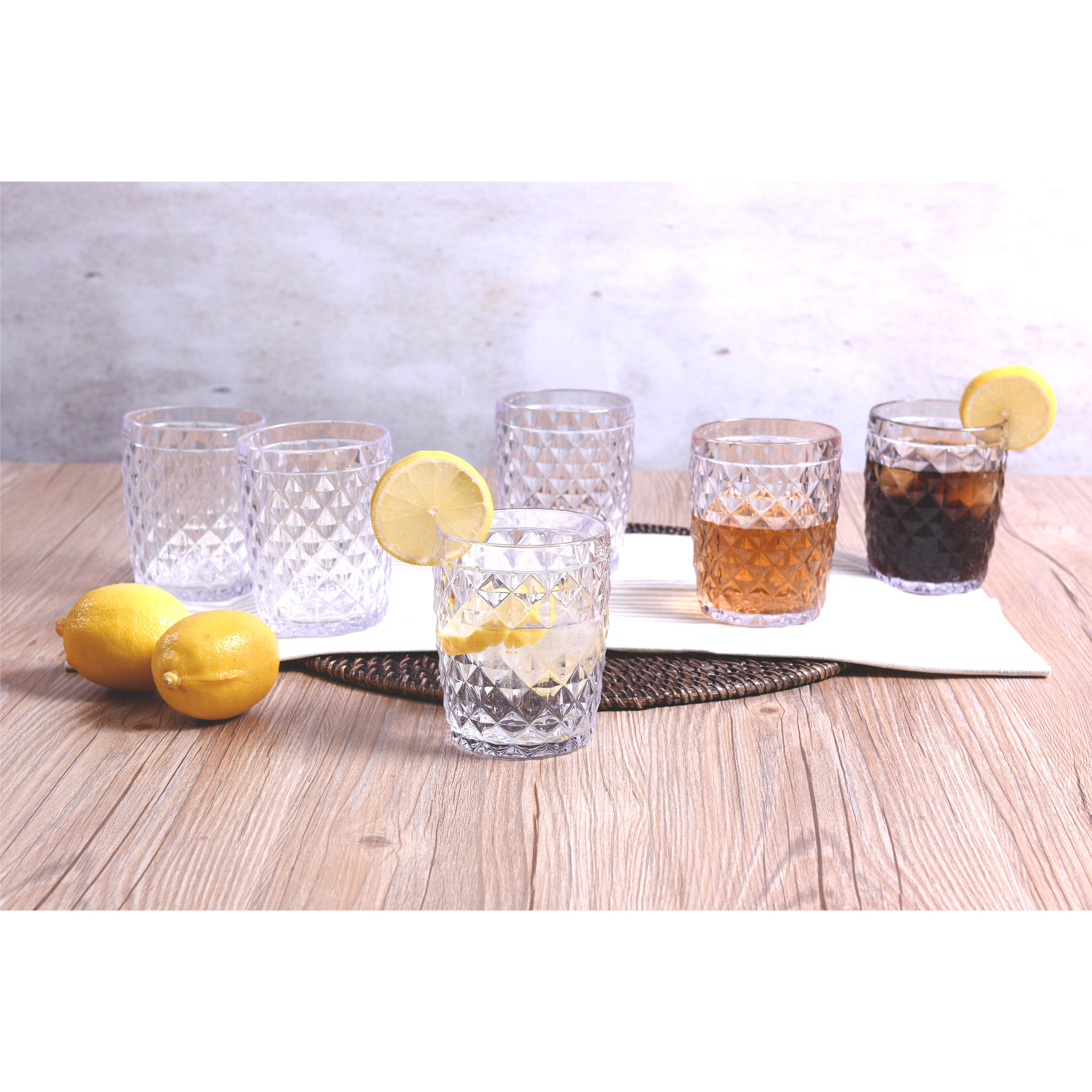 Mainstays 13oz Tumbler Set, Set of 6