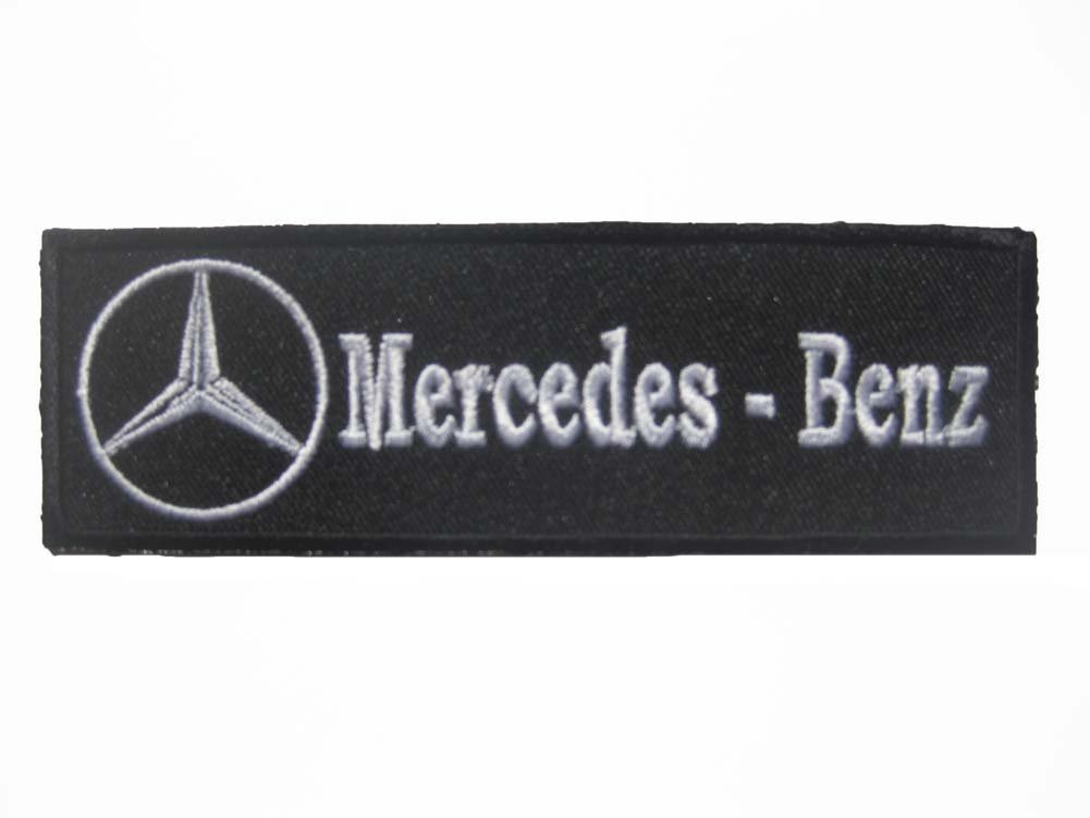 Mercedes Benz Logo Motor Auto Sew Iron On Patch Badge Embroidery 4x 5x4