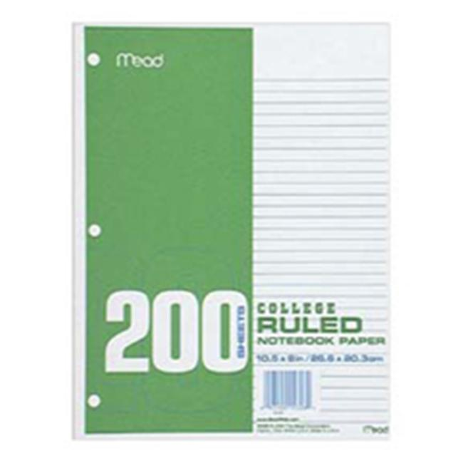 Mead Filler Paper, College Ruled, 200CT
