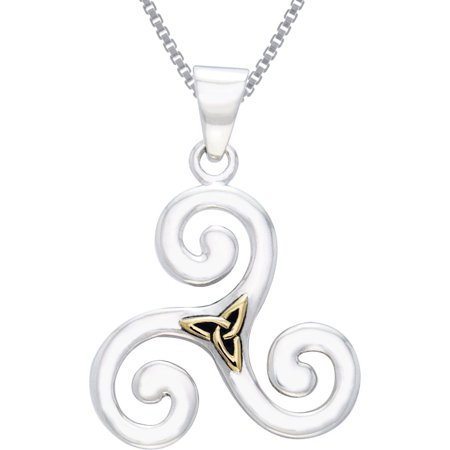 Jewelry trends sterling silver and gold plated celtic triskele jewelry trends sterling silver and gold plated celtic triskele trinity knot pendant on 18 inch aloadofball Image collections