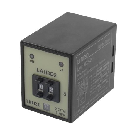 LAH3D2-2 220V 50/60Hz Panel Mounting Digital Time Relay 8 Pins - image 1 of 1