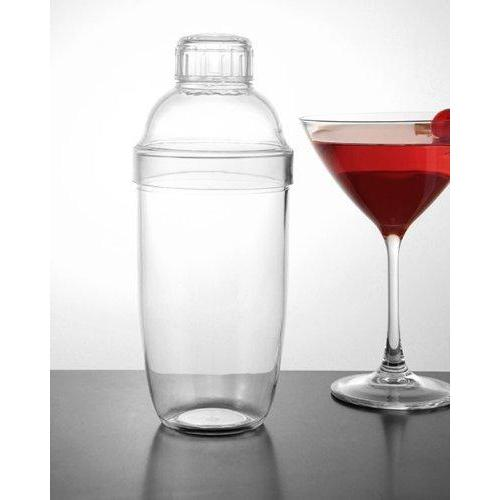 3-Piece Plastic Mixing Shakers - Clear - 24 Ounce