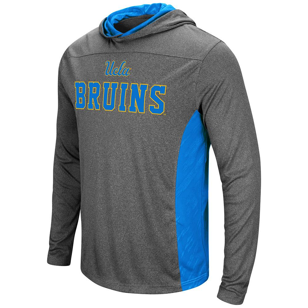 Mens UCLA Bruins Wingman Sleet Hooded Tee Shirt