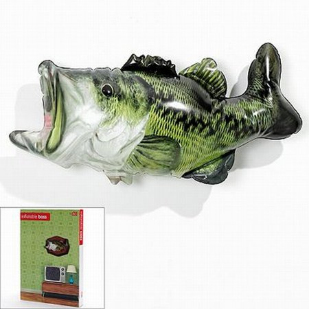 Dci inflatable bass fish trophy decorative wall fishing for Walmart fish decor
