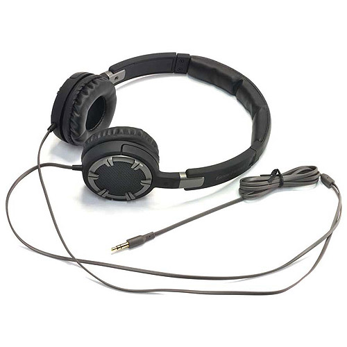 Gear Head HQ4750BCM Dynamic Bass Stereo Headphones with Noise Isolation, Black