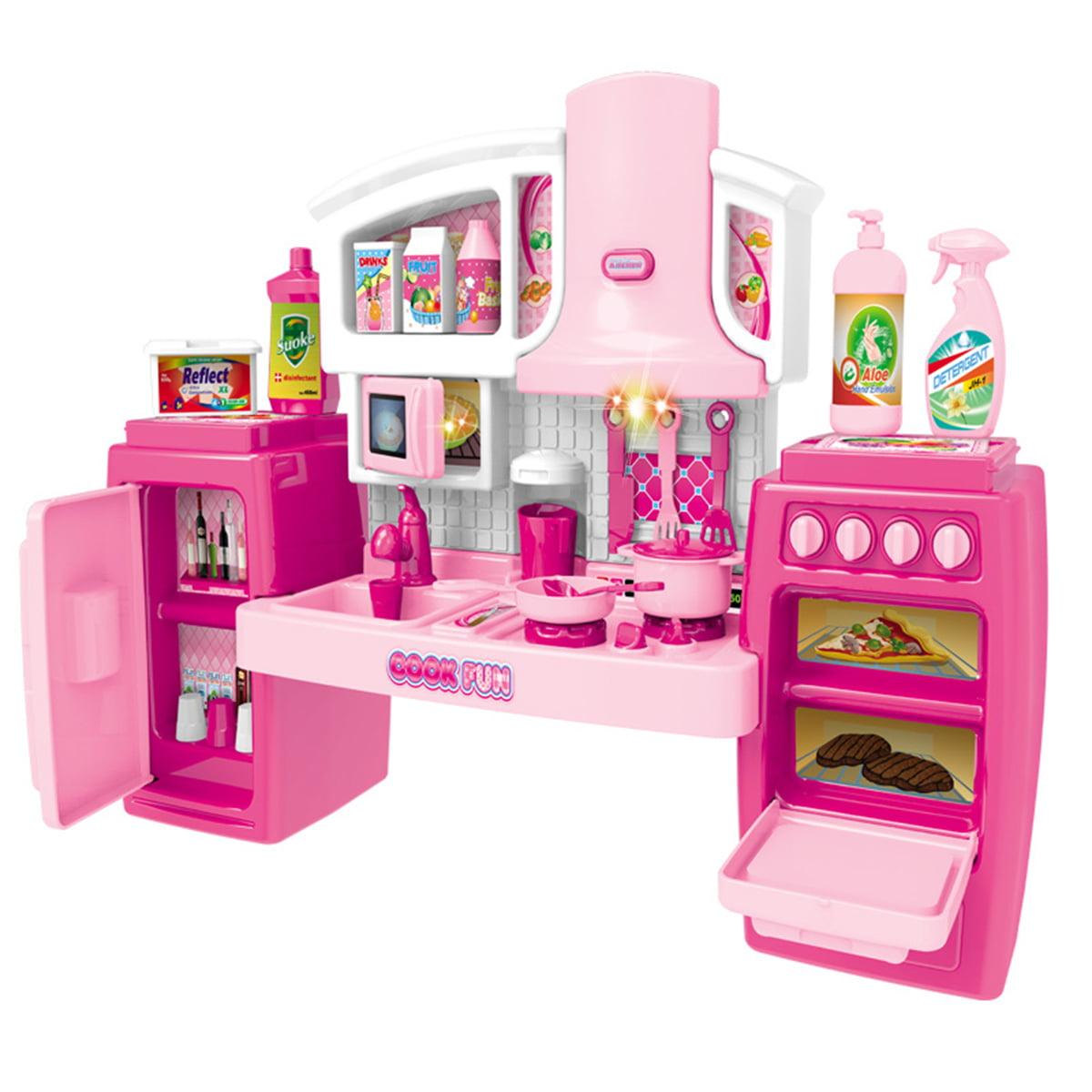 Electronic Kitchen Cooking Children Kids Play Set Toy W Light Sound Walmart Com Walmart Com