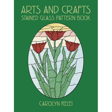 Arts and Crafts Stained Glass Pattern Book ()