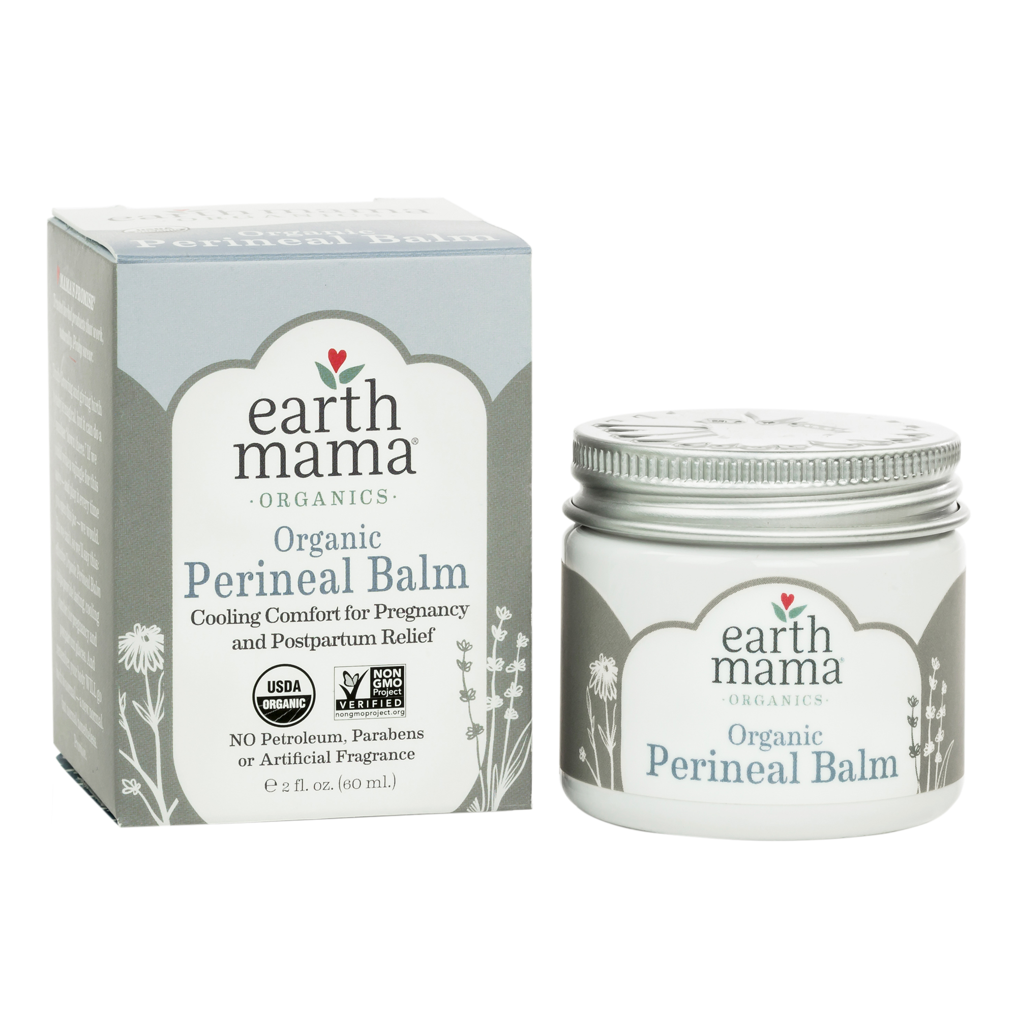 Earth Mama Organic Perineal Balm Down There Care for Pregnancy and Postpartum, 2-Ounce