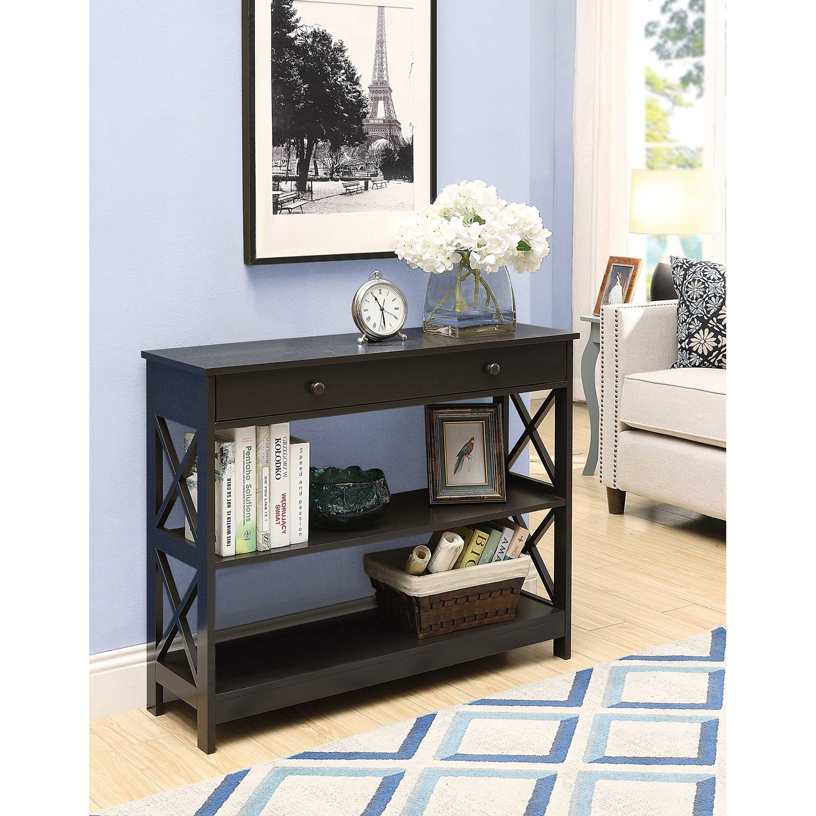 Convenience Concepts Oxford 1-Drawer Console Table, Multiple Finishes by Convenience Concepts