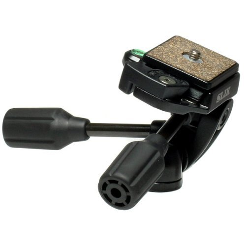 Slik SH-704E 3-Way Pan/Tilt Head with Quick Release - Black 618-640