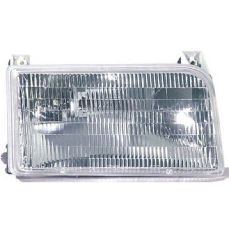 Go-Parts » 1992 - 1997 Ford F-150 Front Headlight Headlamp Assembly Front Housing / Lens / Cover - Right (Passenger) Side F2TZ 13008 A FO2503114 Replacement For Ford