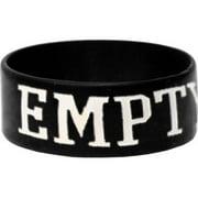 Close Your Eyes Men's Empty Hands Rubber Bracelet Black