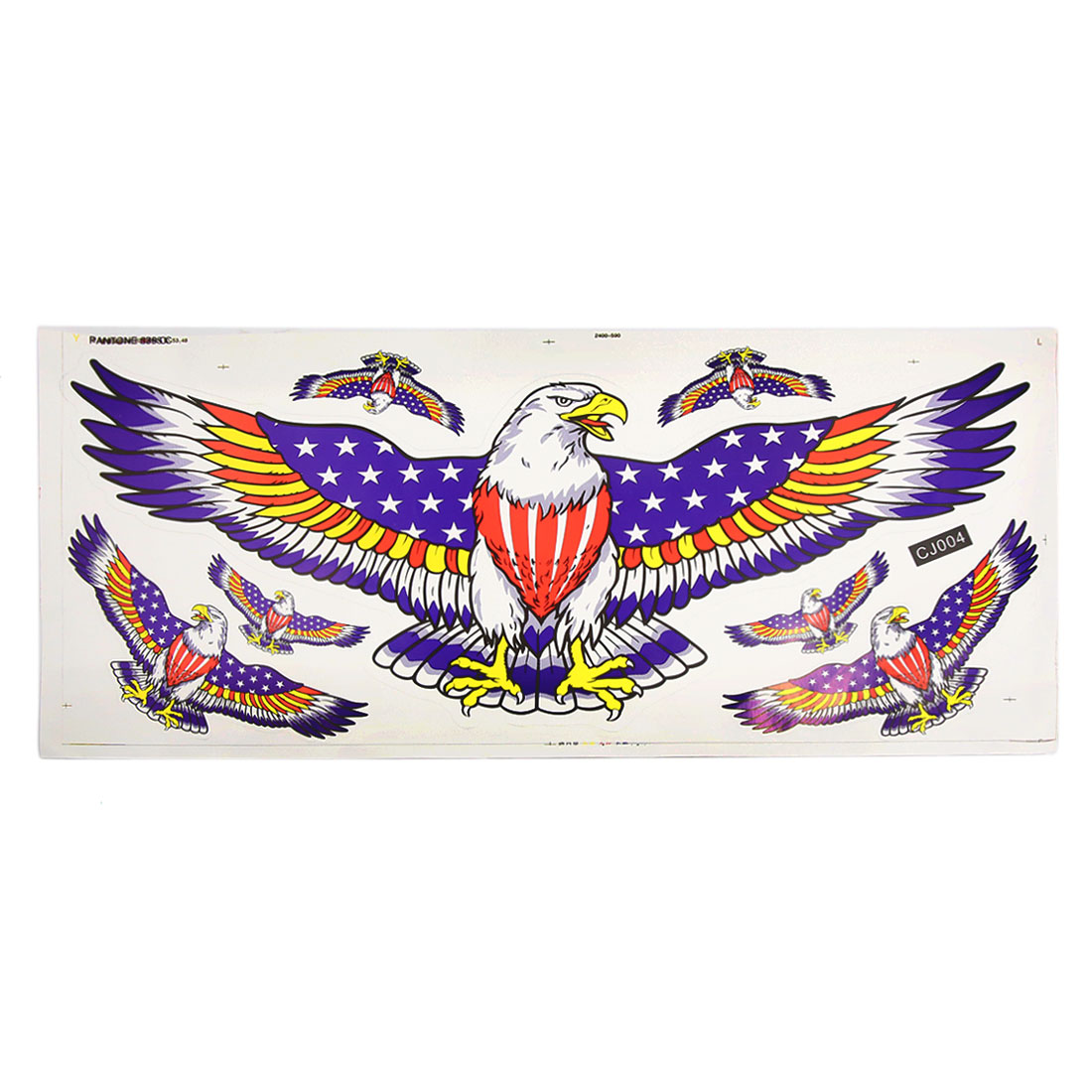 Colorful 7 Eagle Pattern Decal Sticker Scratch Cover Sheet for Auto Car