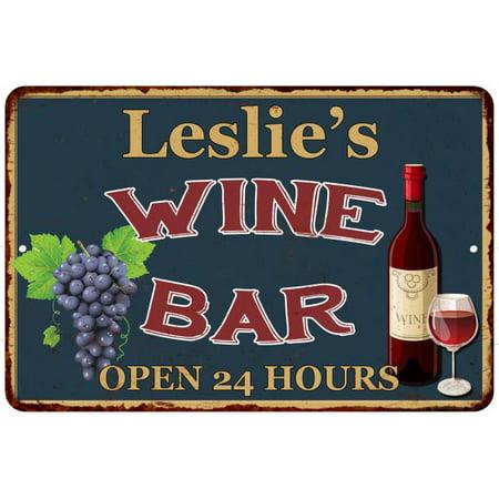 Leslie S Green Wine Bar Wall Decor Kitchen Gift 8x12 Metal 208120043444