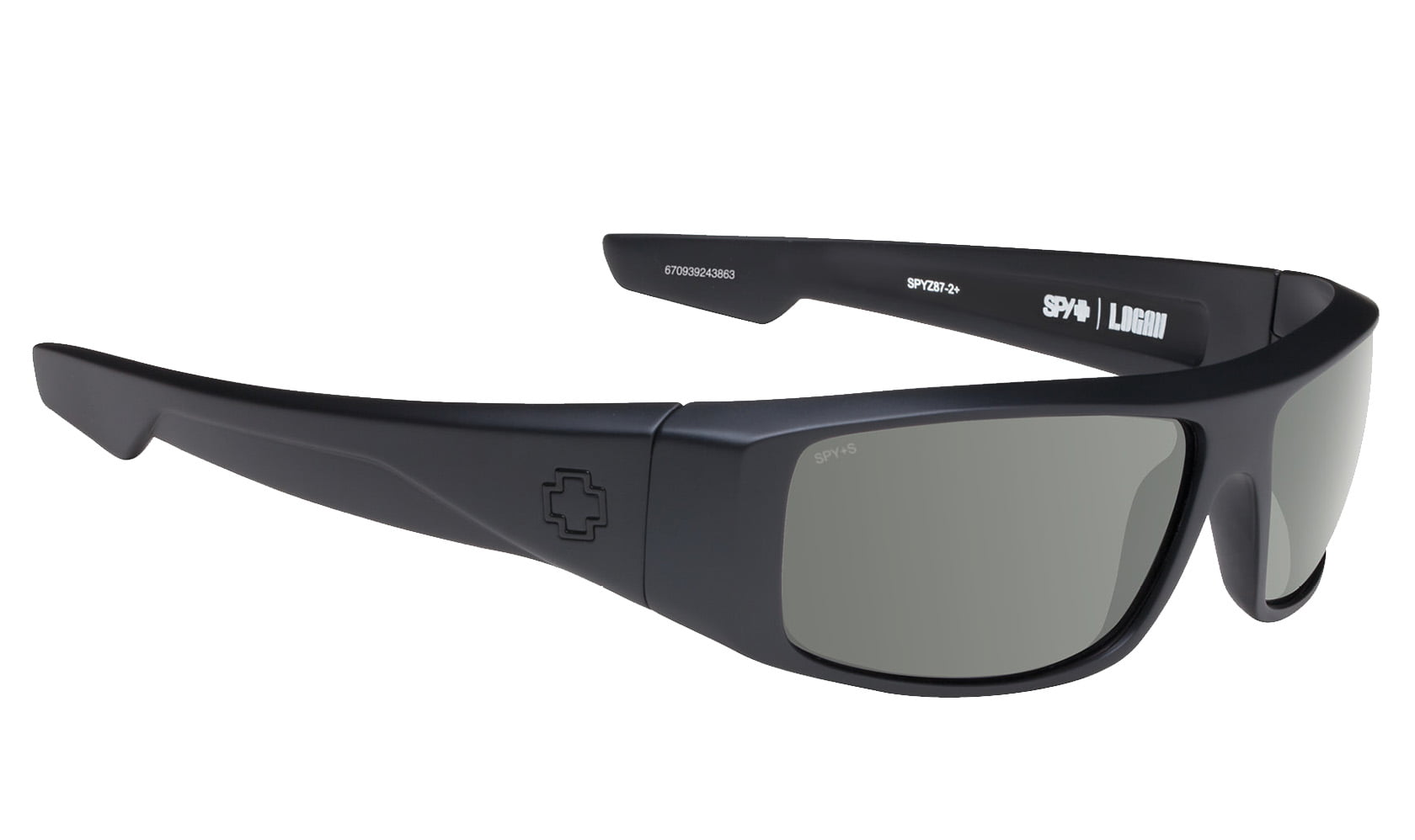 NEW SPY LOGAN GLOSS BLACK HAPPY GRAY GREEN  MX RAP SURF SNOW SPORTS SUNGLASSES