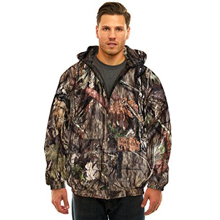 - MENS INSULATED/ WATERPROOF MOSSY OAK CAMOUFLAGE TANKER JACKET- HUNTING- CAMPING