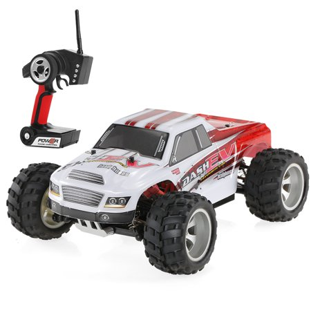 WLtoys A979-B 2.4G 1/18 Scale 4WD 70KM/h High Speed Electric RTR Truck RC Car - image 1 de 7