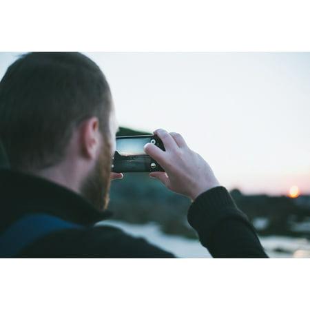 Ibm Photo - LAMINATED POSTER Phone Beard Man Photo Camera Mobile People Alone Poster Print 24 x 36