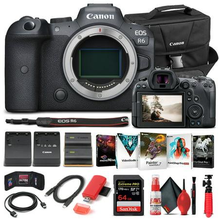 Canon EOS R6 Mirrorless Camera Body Only 4082C002 - Basic Bundle