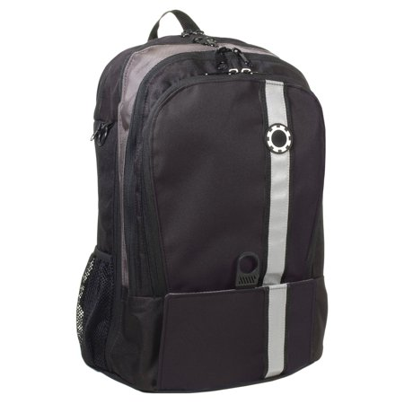 DadGear Backpack Diaper Bag - Black Retro Stripe ()