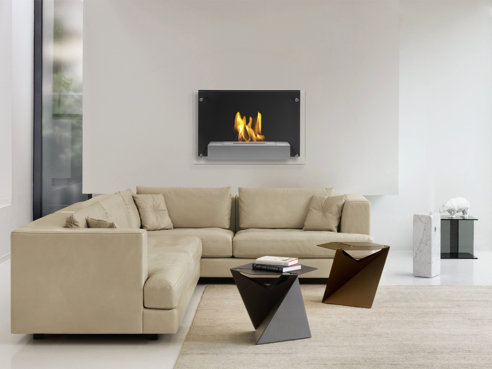Ignis Products Senti Wall Mount Ethanol Fireplace Walmartcom